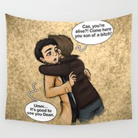 hug Wall Tapestries featuring Hug by Phantasmic Dream