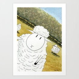 Sheep Selfie Fail Art Print