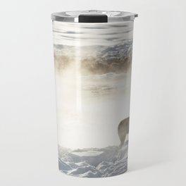Yellowstone National Park - Wolf and Hot Spring Travel Mug