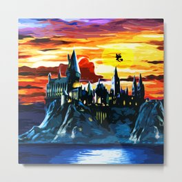 Hogwarts Castle At Sunset Metal Print