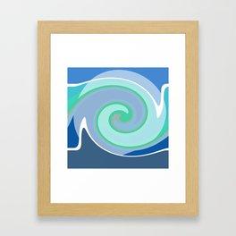 Sunrise by hurricane Framed Art Print