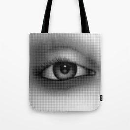 Halftone Eye Tote Bag