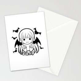 Kawaii Kiddies Cute Vamp Stationery Cards