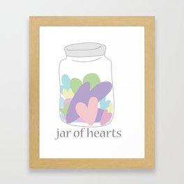 Jar of Hearts Framed Art Print
