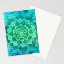 Mandala Eternity Spiritual Zen Bohemian Hippie Yoga Mantra Meditation Stationery Cards