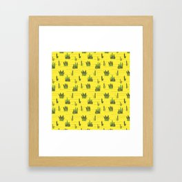 Sand and cactus bring back Summer Framed Art Print