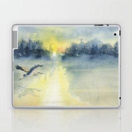 Flying Home - Great Blue Heron Laptop & iPad Skin