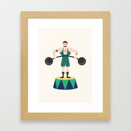 Strongman Framed Art Print