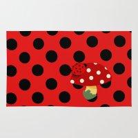 ladybug Area & Throw Rugs featuring ladybug by Alapapaju