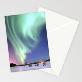 Aurora Borealis, or Northern Lights, Alaska  Stationery Cards