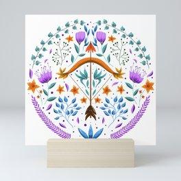 Sagittarius illustration // Hand Drawn Zodiac, Hand Drawn Sagittarius, Folk Art Zodiac Art Print Mini Art Print