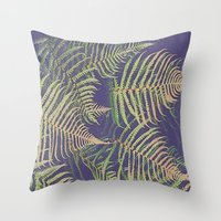 fern Throw Pillows featuring Fern by 83 Oranges™