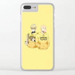 Saitama and Genos Yellow Oppai Clear iPhone Case