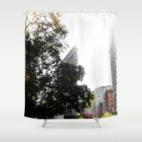 Flatiron Autumn Shower Curtain
