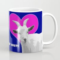 totes Mugs featuring Totes Ma Goats - Blue Pink by BACK to THE ROOTS