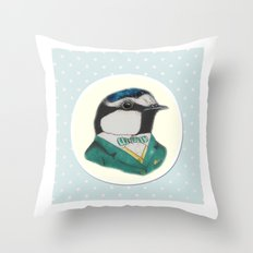 Mr Blue Tit Throw Pillow