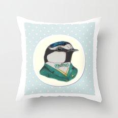 Mr Blue Tit Throw Pillow