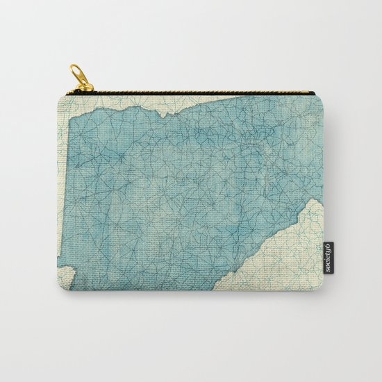 Georgia Map Blue Vintage Carry-All Pouch