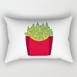 French Fries City Rectangular Pillow