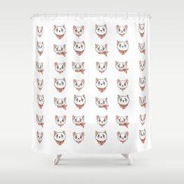 Peach precious kittycats Shower Curtain