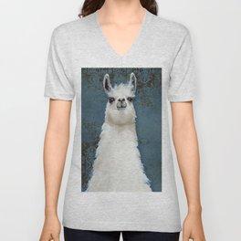 Hello Llama Unisex V-Neck