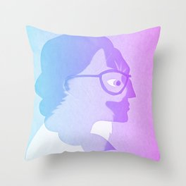 The cat inside - bicolor Throw Pillow