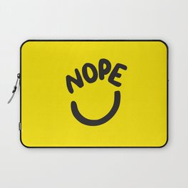 Nope Smiley Face Laptop Sleeve