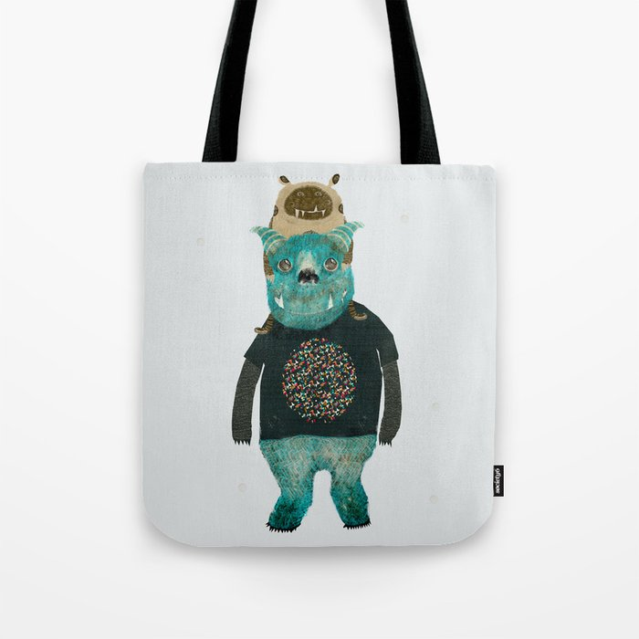 cookie and big blue Tote Bag