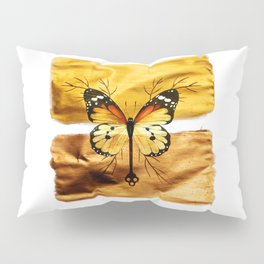 Gold and copper butterfly Pillow Sham