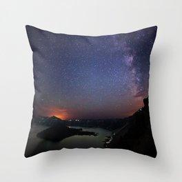 Crater Lake Galaxy Throw Pillow
