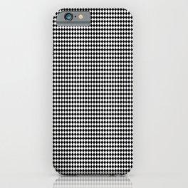 Mini Black and White Harlequin Diamond iPhone Case