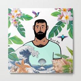 Beard Boy: The boy with the pearl Metal Print