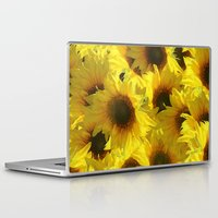sunflowers Laptop & iPad Skins featuring Sunflowers by LLL Creations