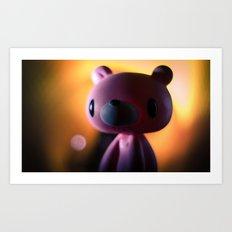 A gloomy Bear ! Art Print