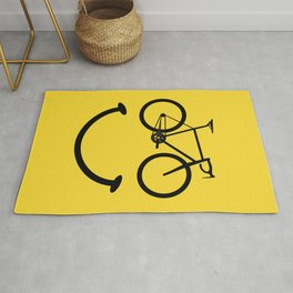 Bicycle Smiley Face Rug