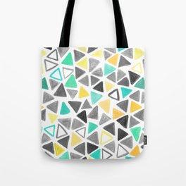 Crayon Triangles Tote Bag