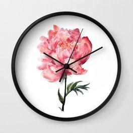 Peony 2 Wall Clock