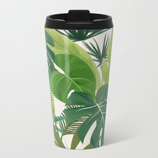Tropical Party art illustration Metal Travel Mug