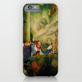 Sleeping Beauty The Aged King Pleads with the Good-Fairy Fairy Tale Portrait by Leon Bakst iPhone Case
