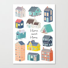 Home Sweet Home - Little Houses Print Canvas Print
