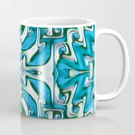 Blue and White Spiral Bends Coffee Mug