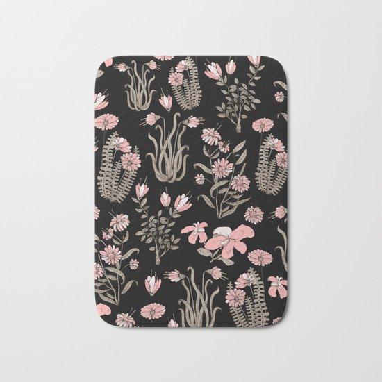 pink garden Bath Mat