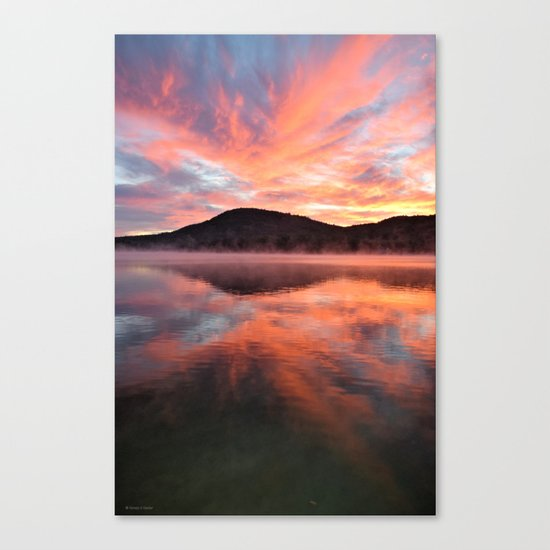 Sunrise: Fire and Water Canvas Print