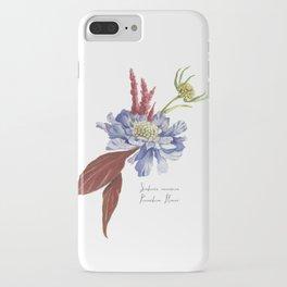 Blue Scabiosa Flower iPhone Case
