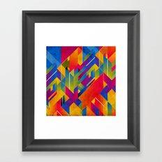 Geometric Play Framed Art Print