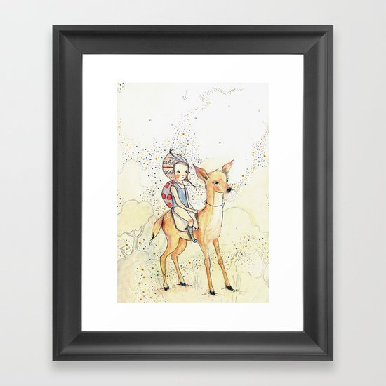 forest girl Framed Art Print
