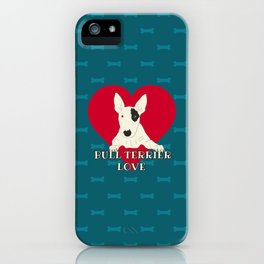 Bull Terrier Love iPhone Case