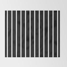 Vertical Lines (White/Black) Throw Blanket