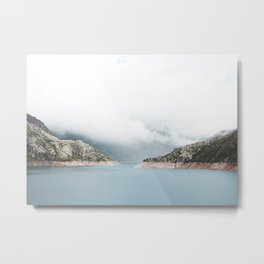 Valais montain lake Metal Print