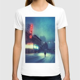 Snow Time - Apollo Theater During Winter Storm Jonas T-shirt